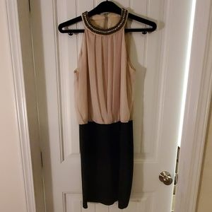 Cocktail Dress with Jeweled Collar